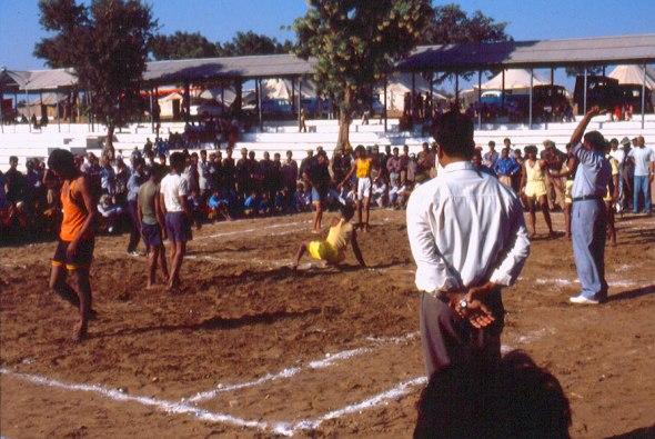 A game of kabaddi at the Mela grounds!
