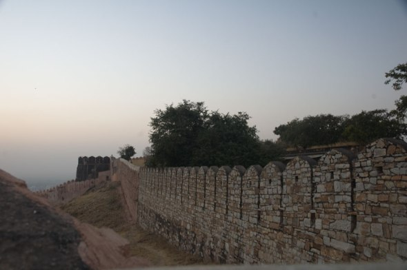 The Nahargarh Fort Wall