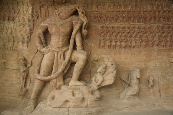 Cave 5: Varaha Avatar slaying the demon