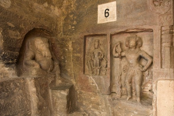 Cave 6: The relief of Ganesha is considered to be one of the oldest representations of the God.